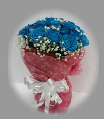 Vas Bouquet_Mawar Biru_Blue Imagine