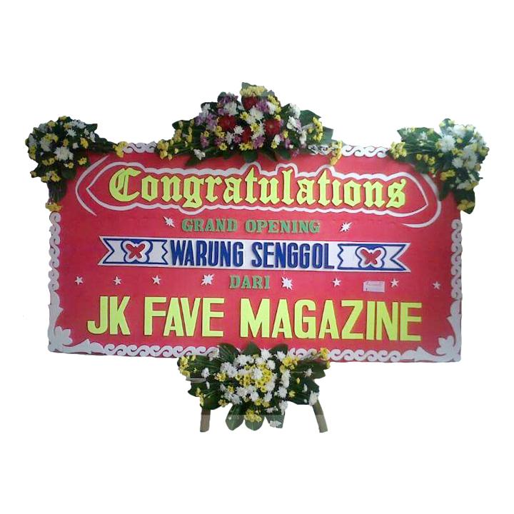 jual bunga papan congratulation di tasikmalaya jawa barat TSM -07 elora florist