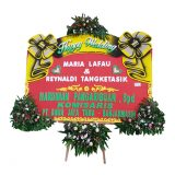 jual bunga papan happy wedding di samarinda SMR - 013