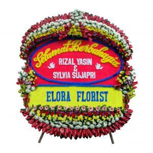 toko bunga papan happy wedding di jakarta