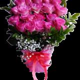 bunga meja hari ibu dengan mawar pink