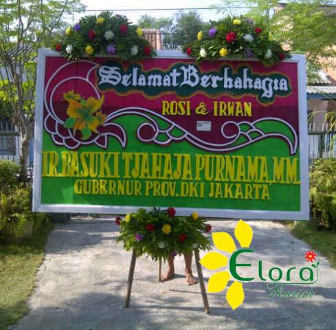 bunga papan pernikahan di tegal