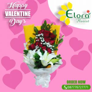 Kado Romantis Bunga Mawar Valentine di Sawangan