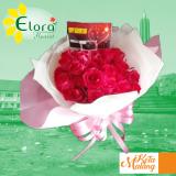 handbouquet di kota malang bunga mawar 20 tangkai