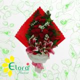 bouquet mawar dan casablanca