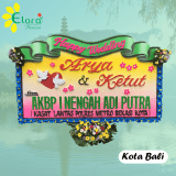 bunga papan happy wedding di badung bali