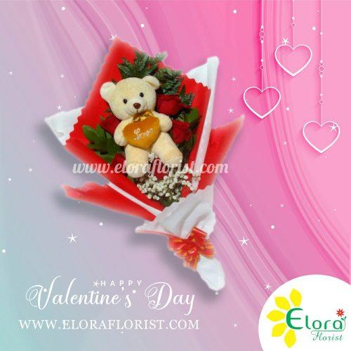 Jual Bouquet dan Boneka Untuk Hadiah Valentine