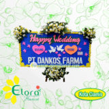 bunga papan happy wedding di ciamis