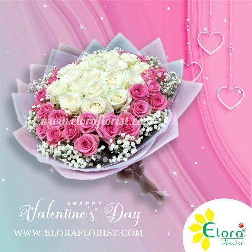 Kado Romantis Bunga Mawar Valentine di Bintara