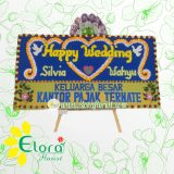 Bunga Papan Wedding Gorontalo GRLW-001