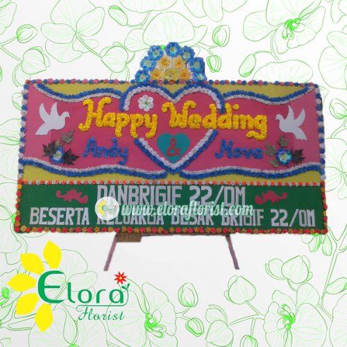 Bunga Papan Wedding Gorontalo GRLW-003