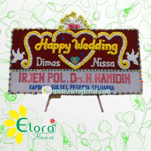Bunga Papan Wedding Gorontalo GRLW-004