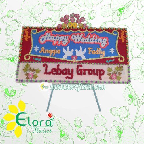 Bunga Papan Wedding Gorontalo GRLW-005