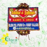 Bunga Papan Wedding Pangkal Pinang PKEW-001