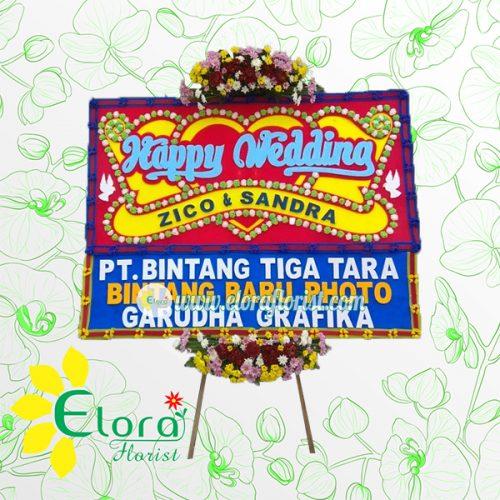 Bunga Papan Wedding Pangkal Pinang PKEW-004