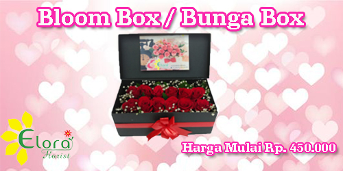 banner bloom box valentine