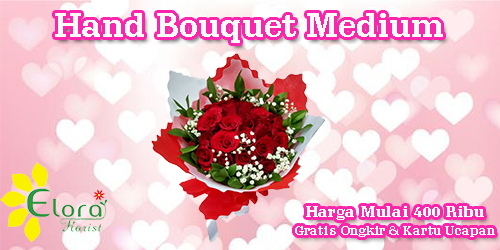 banner hand bouquet medium valentine