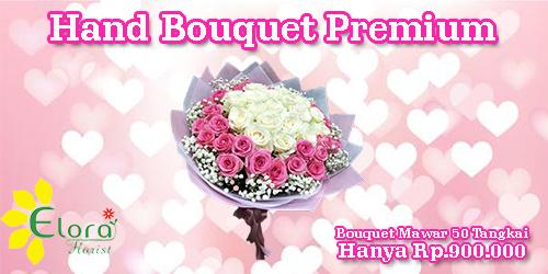 banner hand bouquet premium valentine