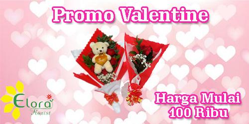 banner promo bunga valentine