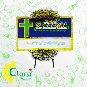Contoh Karangan Bunga Papan Duka Cita Kristen di Depok