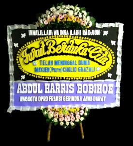 Karangan bunga papan duka cita islam di Bogor