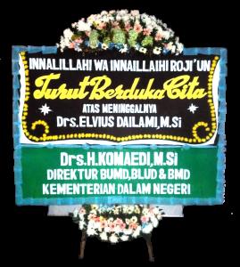 Karangan bunga papan duka cita islam di Depok