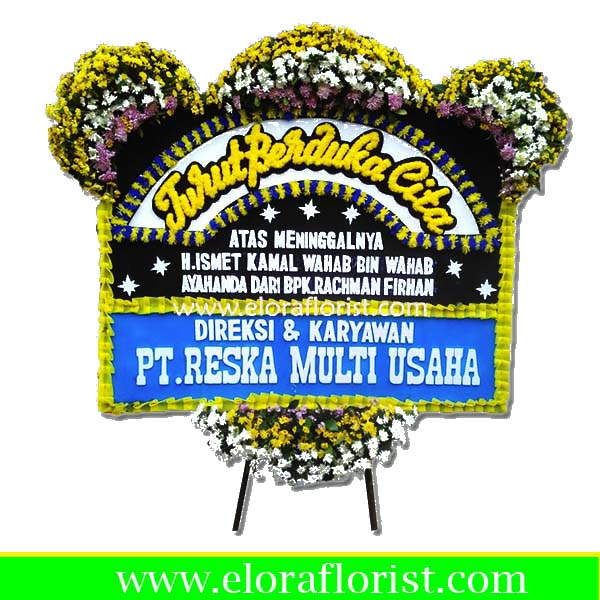 Jual Karangan Bunga Papan Duka Cita Jakarta EJKTD-019