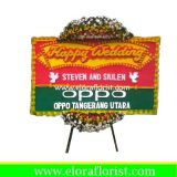 Bunga Papan Happy Wedding Bekasi EJKTW-005