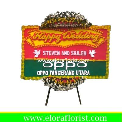 Bunga Papan Happy Wedding Bekasi EJKTW-005
