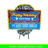 Bunga Papan Happy Wedding Cibubur EJKTW-003