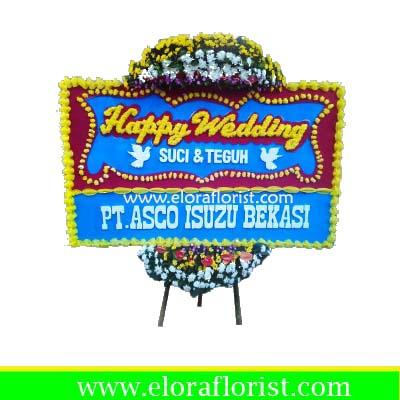 Bunga Papan Happy Wedding Cibubur EJKTW-003