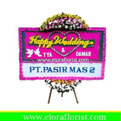 Bunga Papan Happy Wedding Depok EJKTW-001