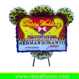 Bunga Papan Happy Wedding EJKTW-013
