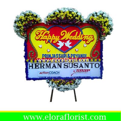 Bunga Papan Happy Wedding EJKTW-013