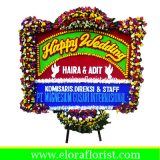 Bunga Papan Happy Wedding EJKTW-018