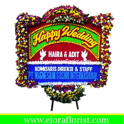 Bunga Papan Happy Wedding EJKTW-018