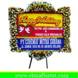 Bunga Papan Happy Wedding EJKTW-021