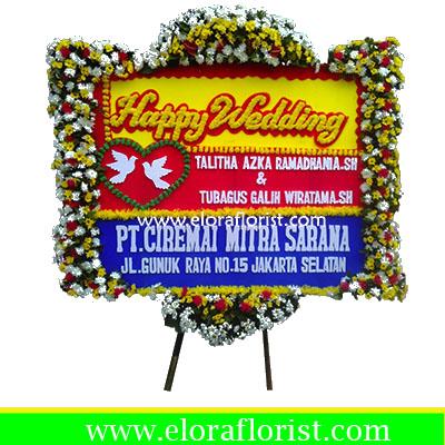 Bunga Papan Happy Wedding EJKTW-021
