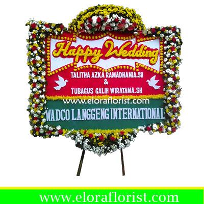 Bunga Papan Happy Wedding EJKTW-022
