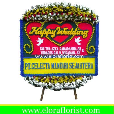 Bunga Papan Happy Wedding EJKTW-024