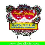 Bunga Papan Happy Wedding EJKTW-027