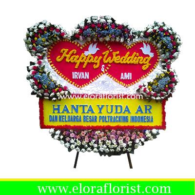 Bunga Papan Happy Wedding EJKTW-027