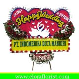 Bunga Papan Happy Wedding EJKTW-028