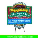 Bunga Papan Happy Wedding Jakarta Pusat EJKTW-007