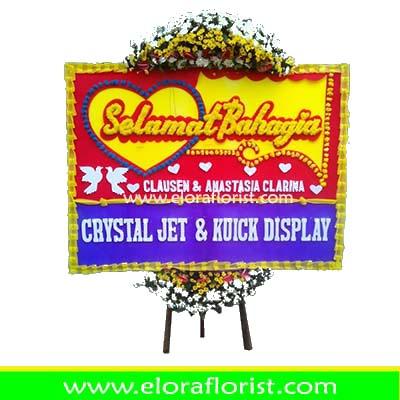 Bunga Papan Happy Wedding Jakarta Selatan EJKTW-010