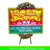 Bunga Papan Happy Wedding Tangerang EJKTW-006