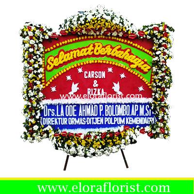 Bunga Papan Selamat Berbahagia EJKTW-020