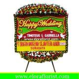 Bunga Papan Ucapan Happy Wedding EJKTW-025