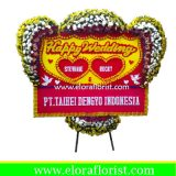 Bunga Papan Ucapan Happy Wedding EJKTW-026
