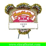 Bunga Papan Ucapan Pernikahan EJKTW-017